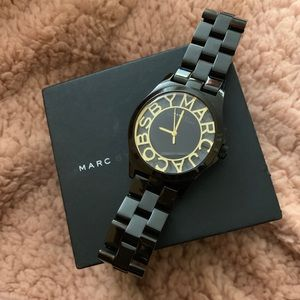 Black MARC JACOBS watch for women